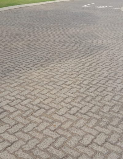 80mm Interlock Zig zag industrial paving